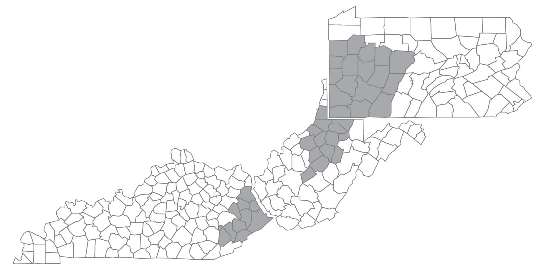 Peoples Natural Gas Service Area Map